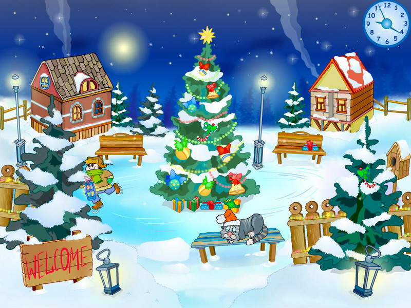 christmas yard screensaver 1 0 bei freeware. Black Bedroom Furniture Sets. Home Design Ideas