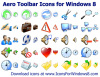 Aero Toolbar Icons for Windows 8 2011.1