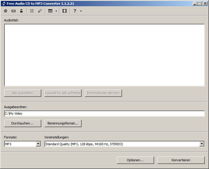Free Audio CD to MP3 Converter 1.3.7 bei Freeware-Download.com
