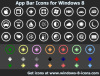 App Bar Icons for Windows 8 1.0