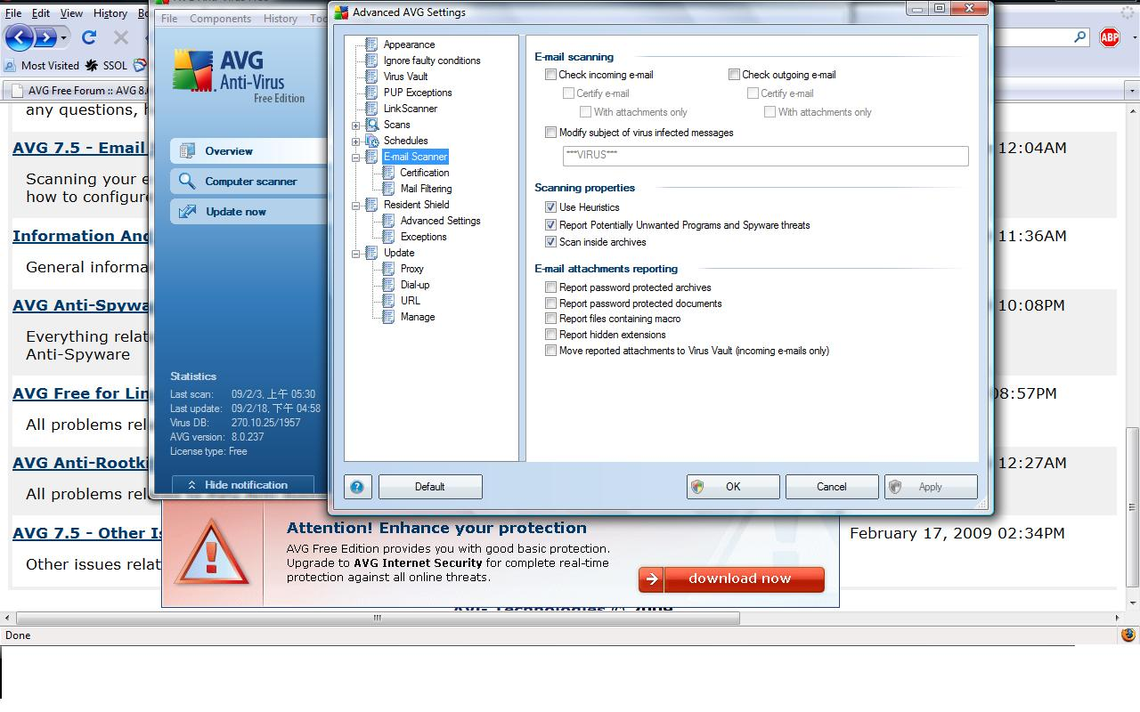 AVG Anti-Virus Free Edition 8 5 bei Freeware-Download com