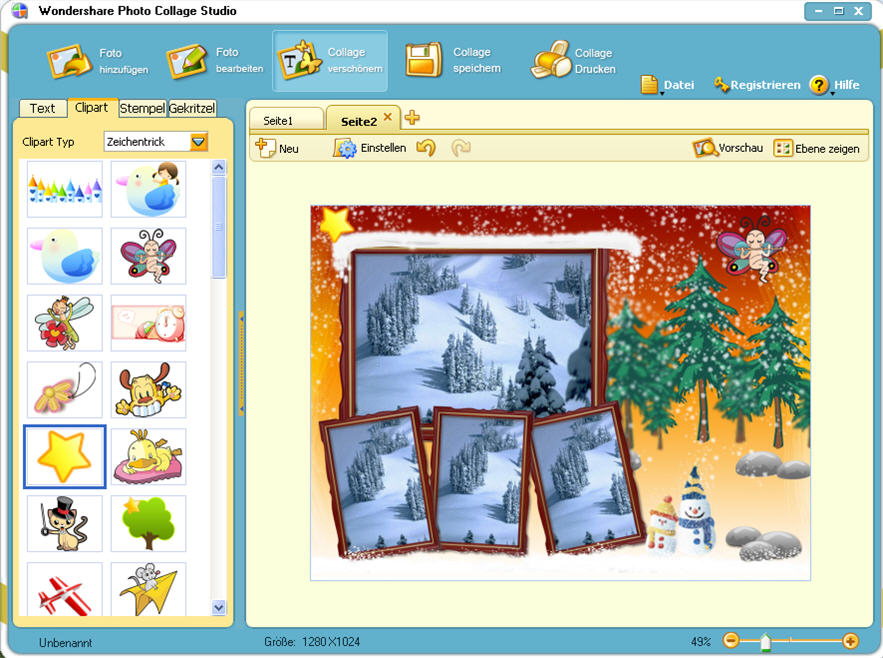 Wondershare Photo Collage Studio 4.2.9.2 bei Freeware-Download.com